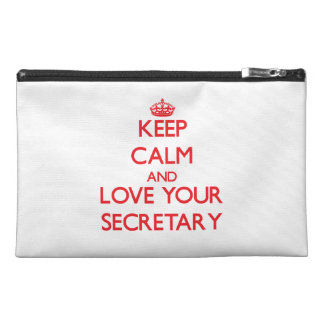 Keep Calm and Love your Secretary Travel Accessory Bag