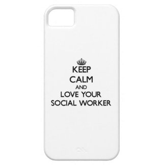 Keep Calm and Love your Social Worker iPhone 5 Case