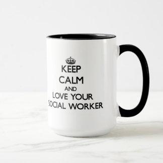 Keep Calm and Love your Social Worker Mug