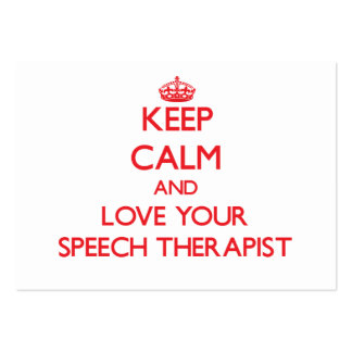 Keep Calm and Love your Speech Therapist Large Business Cards (Pack Of 100)