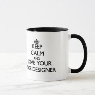Keep Calm and Love your Web Designer Mug