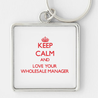 Keep Calm and Love your Wholesale Manager Key Chains