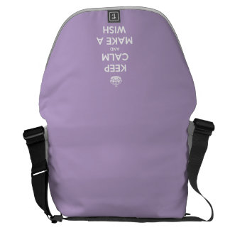 Keep Calm and Make a Wish Lavender Messenger Bag