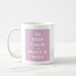 Keep Calm and Make A Wish Pink Coffee Mug