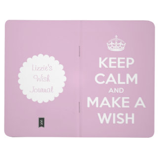 Keep Calm and Make a Wish Pink Personalized Journals