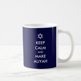 Keep Calm And Make Aliyah Coffee Mug