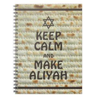 Keep Calm And Make Aliyah - Matzah Notebooks