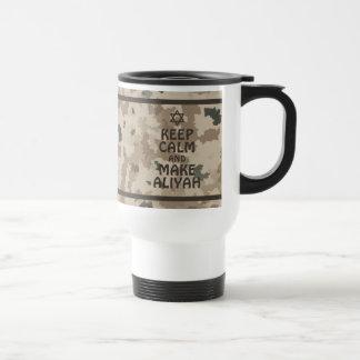 Keep Calm And Make Aliyah Travel Mug
