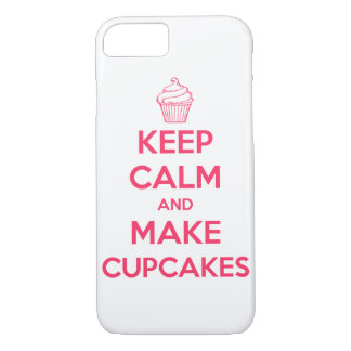 Keep calm and make cupcakes iPhone 7 case