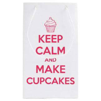Keep calm and make cupcakes small gift bag