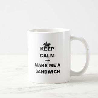 KEEP CALM AND MAKE ME A SANDWICH.png Classic White Coffee Mug