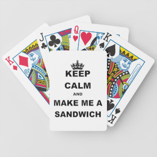 KEEP CALM AND MAKE ME A SANDWICH png Deck Of Cards