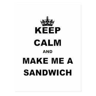 KEEP CALM AND MAKE ME A SANDWICH png Postcards