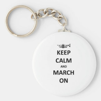 Keep calm and march on basic round button keychain