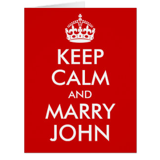 Keep Calm and Marry BLANK Big Greeting Card