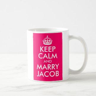 Keep Calm and Marry Jacob Basic White Mug