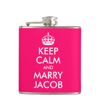 Keep Calm and Marry Jacob Hip Flask