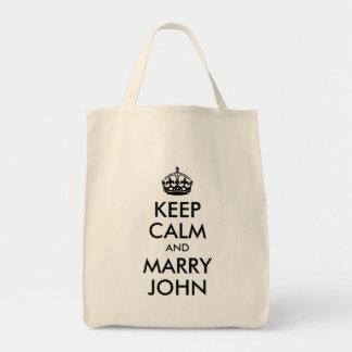 Keep Calm and Marry John Bag