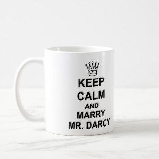 Keep Calm and Marry Mr. Darcy - Black Text Coffee Mug