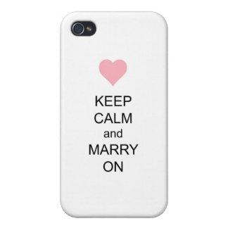 Keep Calm and Marry On Case For iPhone 4