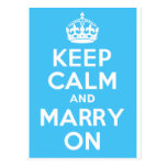 KEEP CALM and MARRY ON Post Cards