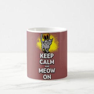 Keep Calm And Meow On! 11 oz Classic White Mug