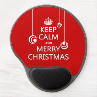 Keep Calm and Merry Christmas Gel Mouse Pad