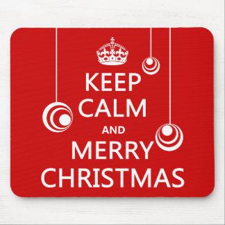 Keep Calm and Merry Christmas Mouse Pad