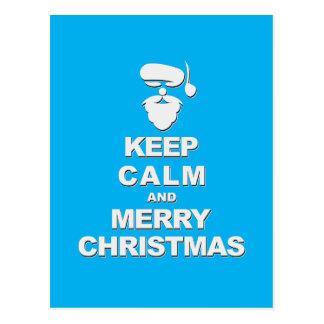 Keep Calm and Merry Christmas (shadow) Postcard