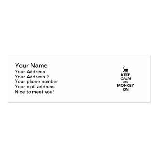 Keep calm and monkey on mini business card