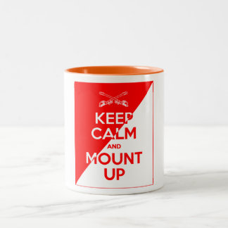 Keep Calm and Mount Up Two-Tone Coffee Mug