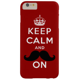 Keep Calm and Mustache On Barely There iPhone 6 Plus Case