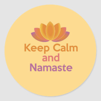 Keep Calm and Namaste - Yoga, Relax, Zen Classic Round Sticker