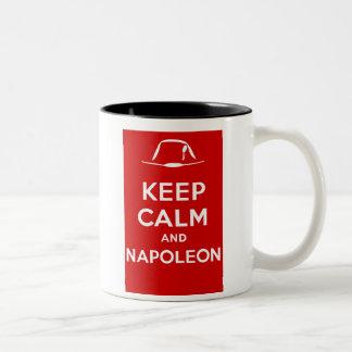 Keep calm and Napoleon Two-Tone Coffee Mug