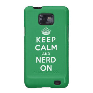 Keep Calm and Nerd On Samsung Galaxy SII Cases