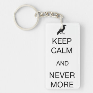 Keep Calm and Nevermore Keychain