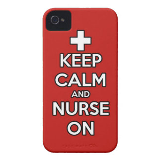 keep calm and nurse on rn doctor hospital nursing iPhone 4 case