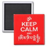 Keep Calm and Om Mani Padme Hum Refrigerator Magnet