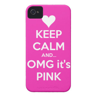 Keep calm and OMG... it's pink iPhone 4/4s Cover