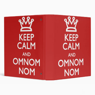 Keep Calm and Omnom Cook Book Vinyl Binder