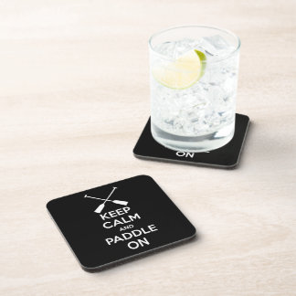 Keep Calm and Paddle On Beverage Coasters