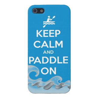keep calm and paddle on kayak canoe water sports r case for iPhone 5/5S