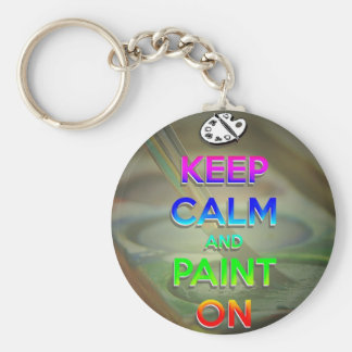 keep calm and paint on key chain