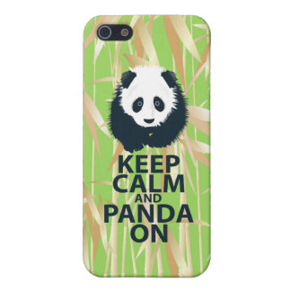 Keep Calm and Panda On Original Design Print Gift iPhone 5 Cover