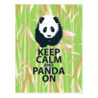Keep Calm and Panda On Original Design Print Gift Postcard