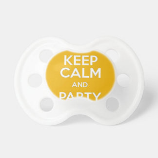Keep Calm and Party On Baby Pacifier