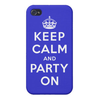 Keep Calm and Party On iPhone 4/4S Cover