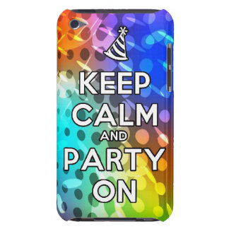 Keep Calm and Party On Parties Drink birthday fun Case-Mate iPod Touch Case