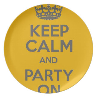 Keep Calm and Party On Plate