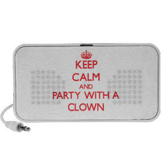 Keep Calm and Party With a Clown PC Speakers
